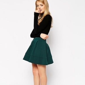ASOS Full Textured Skater Skirt